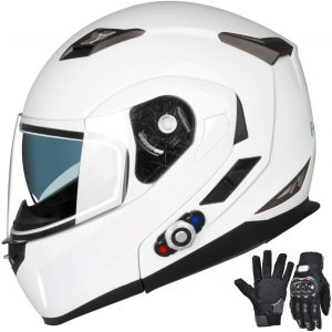 Freedconn ventilated motorcycle helmet with bluetooth