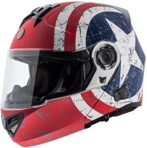 TORC T27B Full Face Modular Helmet with Blinc Bluetooth