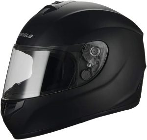 Triangle Matte Black Full Face motorcycle helmet
