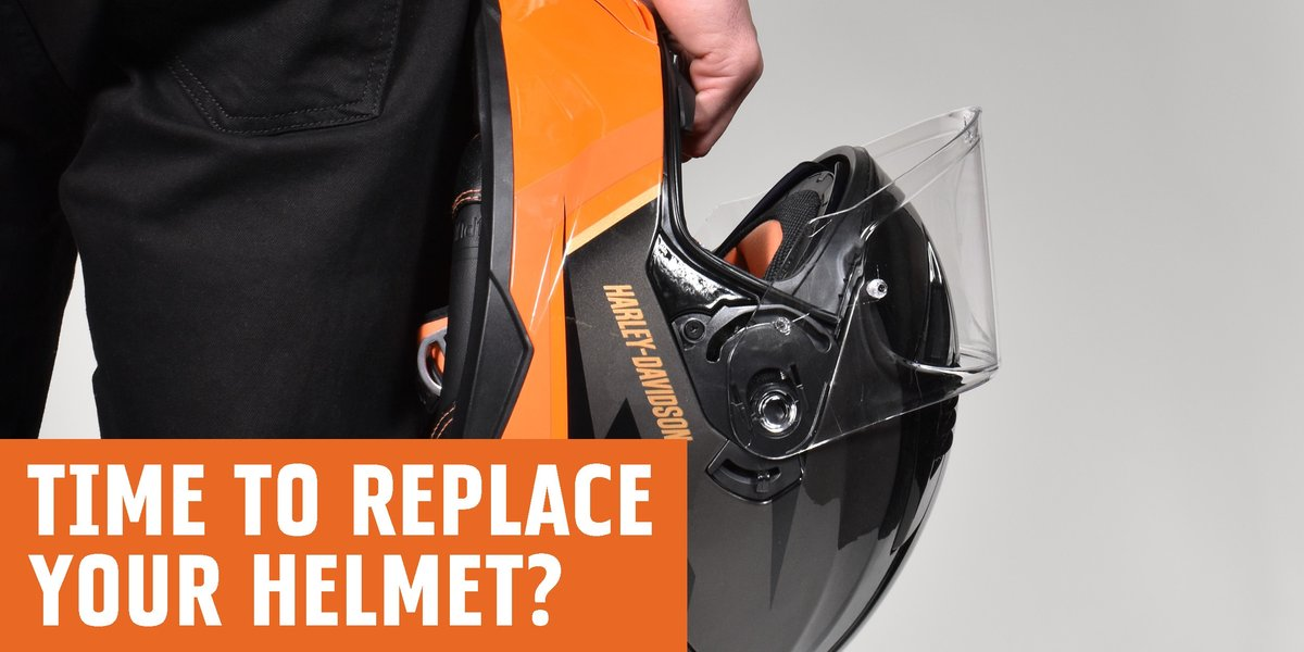 when do I need to replace a motorcycle helmet